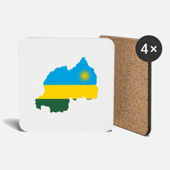 Eritrea Mugs & Drinkware - rwanda collection - Coasters white