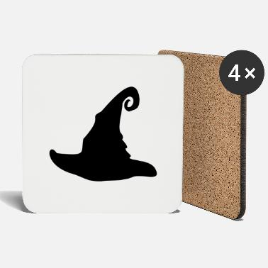 Clip Art witch's hat witches Halloween clip art warlock - Coasters