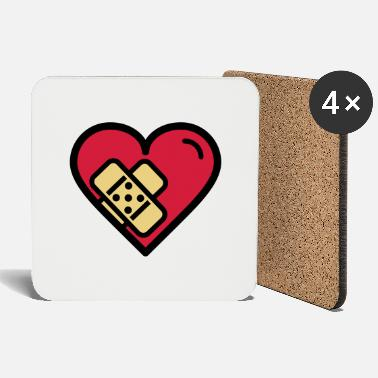 Heartache Heart with plaster - Coasters