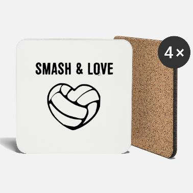 Spam Smash Love Volleyball Sport Gift Idea - Coasters