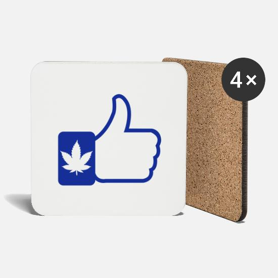 Music Mugs & Drinkware - Like Cannabis - Coasters white