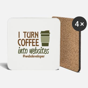Website I turn coffee into websites - Coasters