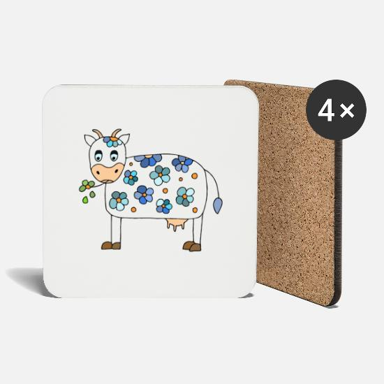 Dairy Cow Mugs & Drinkware - Funny cow - Coasters white