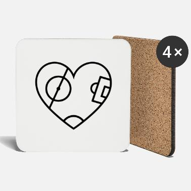Pitching Pitch Heart - Coasters