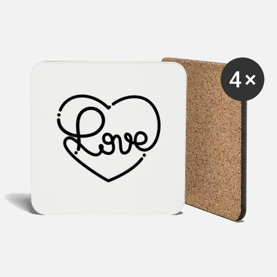 Typo Collection V2 Mugs & Drinkware - Love - Coasters white
