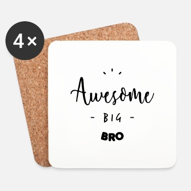 Big Awesome BIG BRO - Dessous de verre (lot de 4)