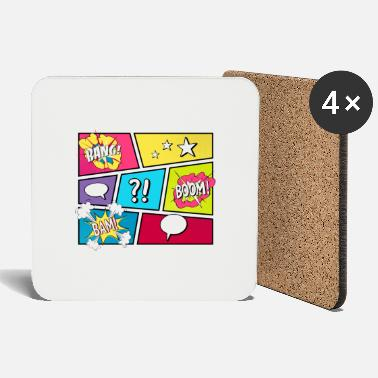Comic COMIC STRIP Pop Art - Coasters