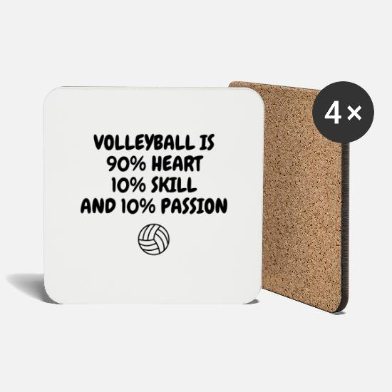 Play Mugs & Drinkware - Volleyball - Volley Ball - Volley-Ball - Sport - Coasters white