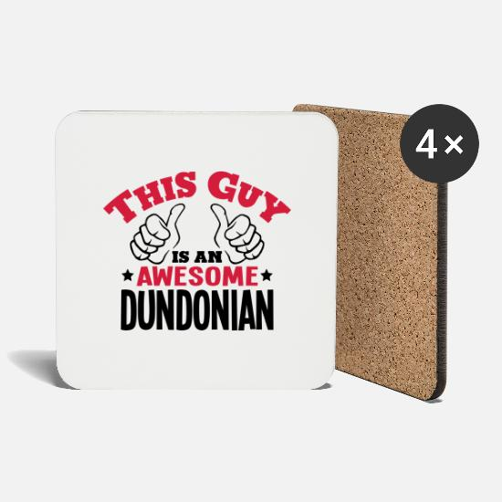 British Mugs & Drinkware - this guy is an awesome dundonian 2col - Coasters white