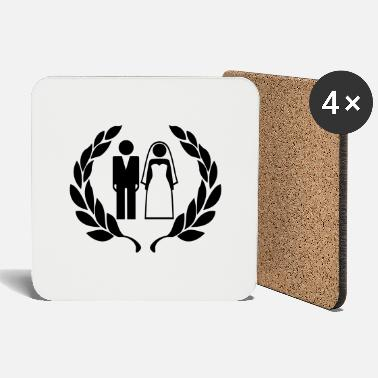 Wedding Couple Hochzeitspaar - Wedding Couple - Coasters