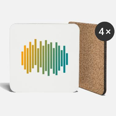 Audio Audio waveform - Coasters