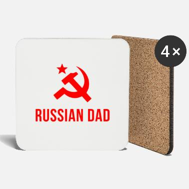 Russian russian dad russian father - Coasters