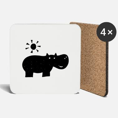 Drawing Hippo drawing - Coasters