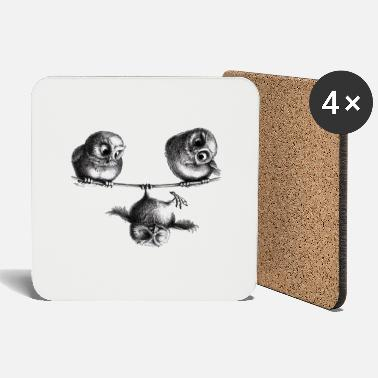 three owls - freedom and fun - Coasters
