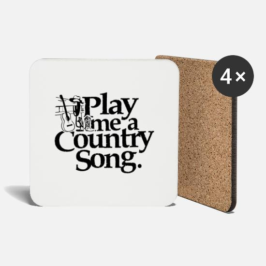 Country Mugs & Drinkware - Play me a country music - Coasters white
