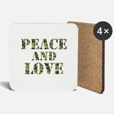 Placard Peace & Love (Camouflage) - Coasters