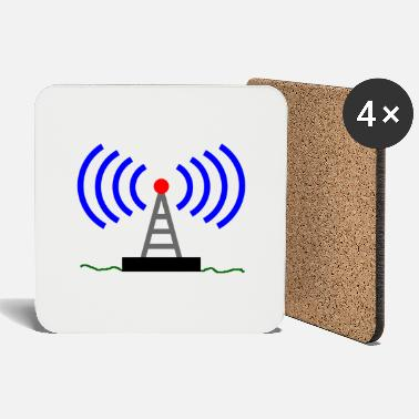Radio Tower Radio radio tower waves communication - Coasters