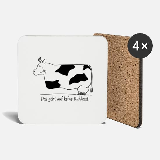 Cow Mugs & Drinkware - cow - Coasters white