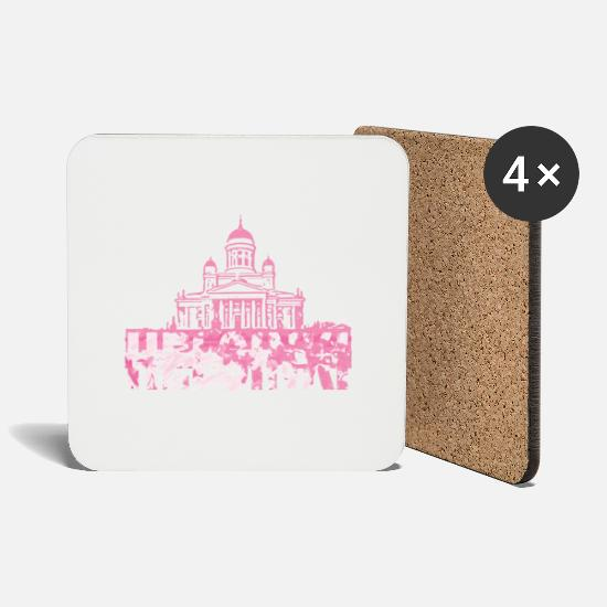 Finland Mugs & Drinkware - Helsinki Cathedral - Coasters white