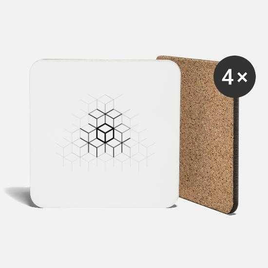 Boarders Mugs & Drinkware - CUBES - Coasters white