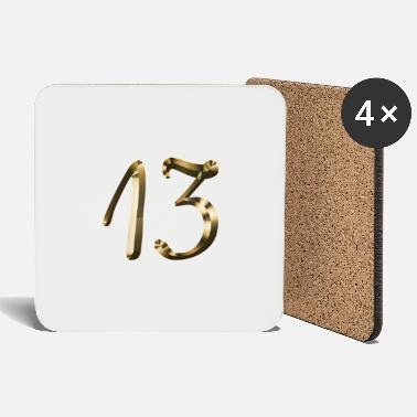 Birthday 13 years 13 year gold 13th birthday event - Coasters