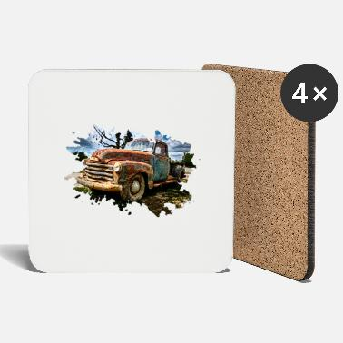Pickup Line Old Pickup Truck - Coasters