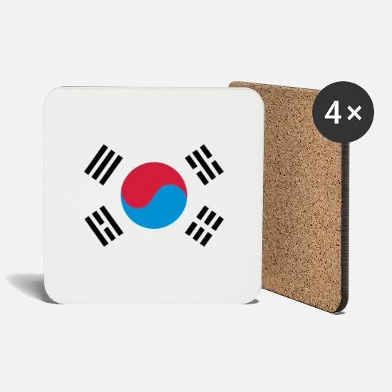 Korea Mugs & Drinkware - South Korea - Coasters white