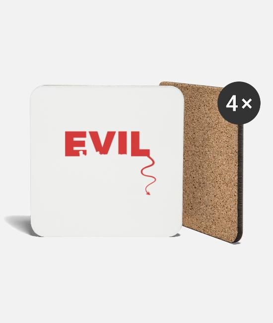 Owner Mugs & Drinkware - evil - Coasters white