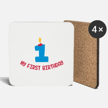 My First Birthday Birthday first - Coasters