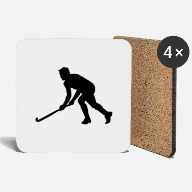 Hockey Hockey field hockey silhouette - Coasters