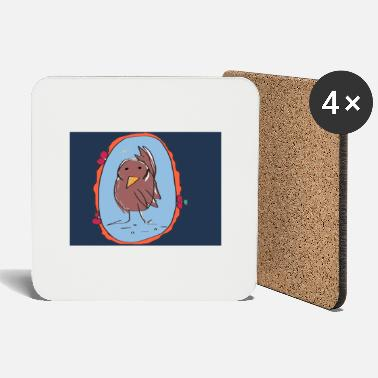 Blackbird Blackbird in the mirror - Coasters