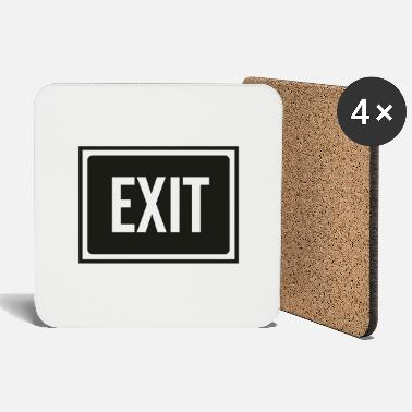 Exit exit sign - Coasters