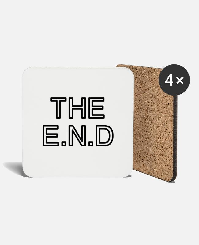 Finish Termination Music Mugs & Drinkware - the end - Coasters white