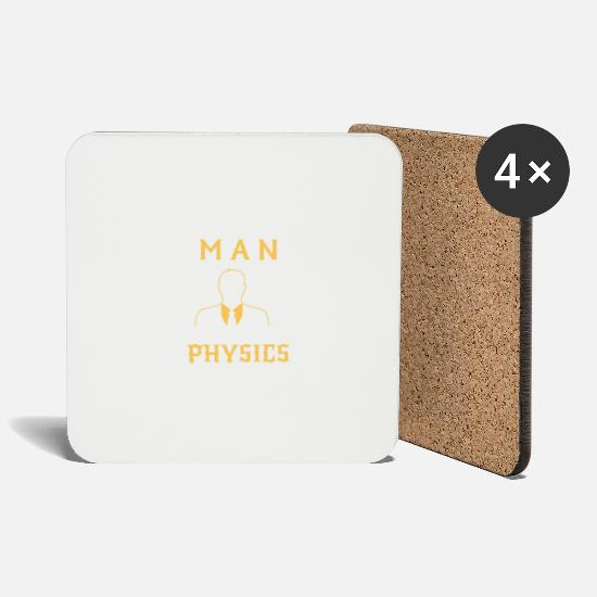 Physics Mugs & Drinkware - NEVER UNDERESTIMATE A PHYSICIST! - Coasters white