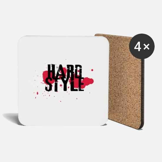Bass Mugs & Drinkware - hardstyle exit-shirt - Coasters white