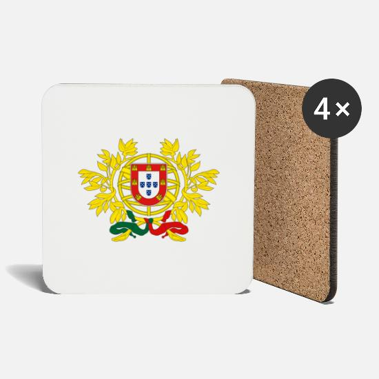 Flag Mugs & Drinkware - portugal - Coasters white