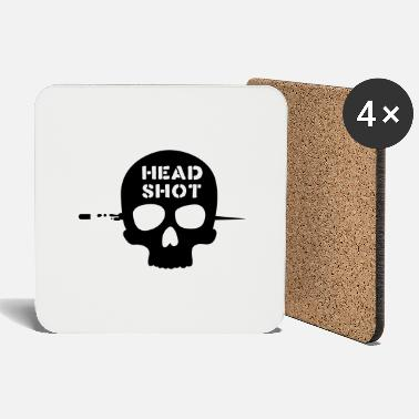Head Shot head shot - Coasters