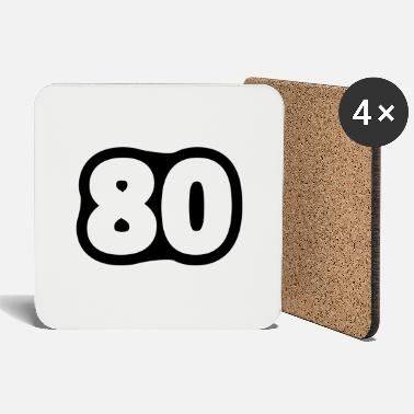 Achtzigster Geburtstag 80 / / Eighty / / Eighty of the birth / / - Coasters