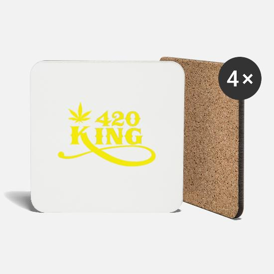 King Mugs & Drinkware - 420 King - Coasters white
