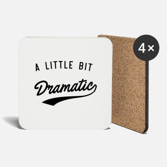 Drama Mugs & Drinkware - A Little Bit Dramatic - Coasters white