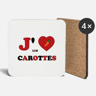 Ruse I Love Carrots - Coasters