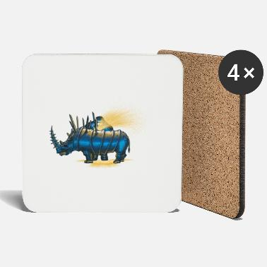 Funny Collection V2 Saved rhino - Coasters