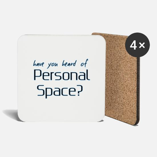 Personal Carer Mugs & Drinkware - personal space - Coasters white