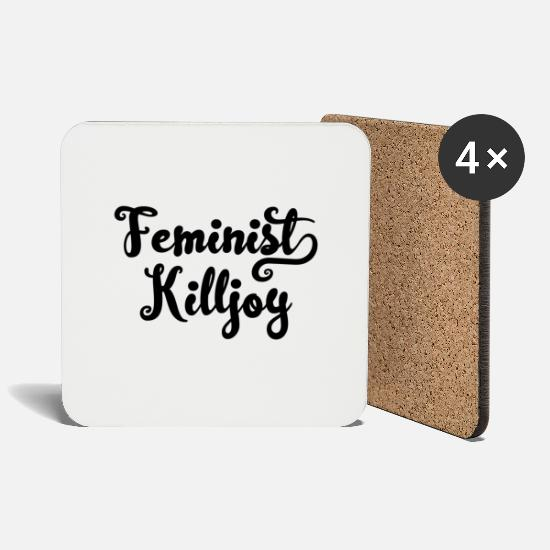 Feminist Mugs & Drinkware - Feminist Killjoy - Coasters white