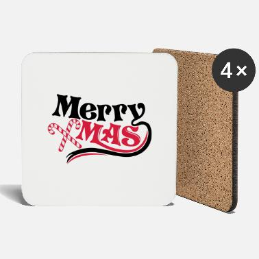 Schwarz Merry Christmas - Coasters