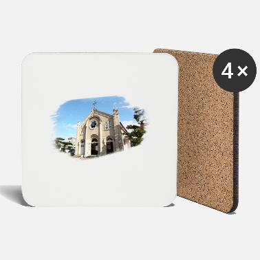 Church Watercolor Church - Coasters