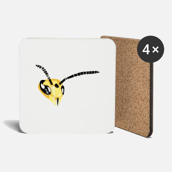 Wasp Mugs & Drinkware - wasp - Coasters white