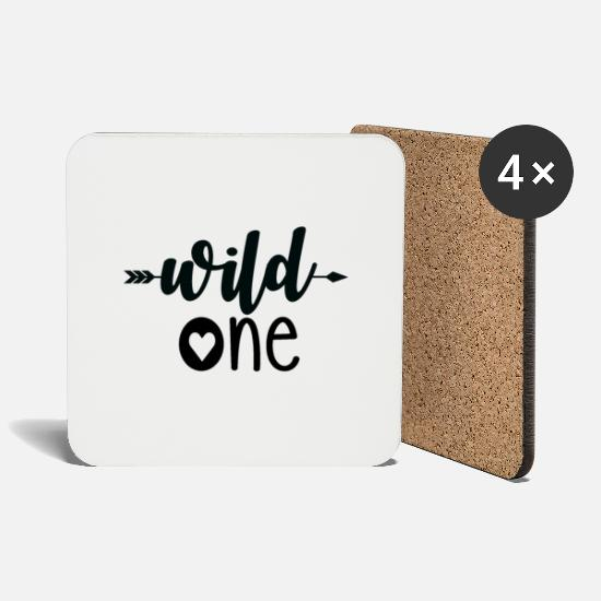 Love Mugs & Drinkware - Wild One - Coasters white