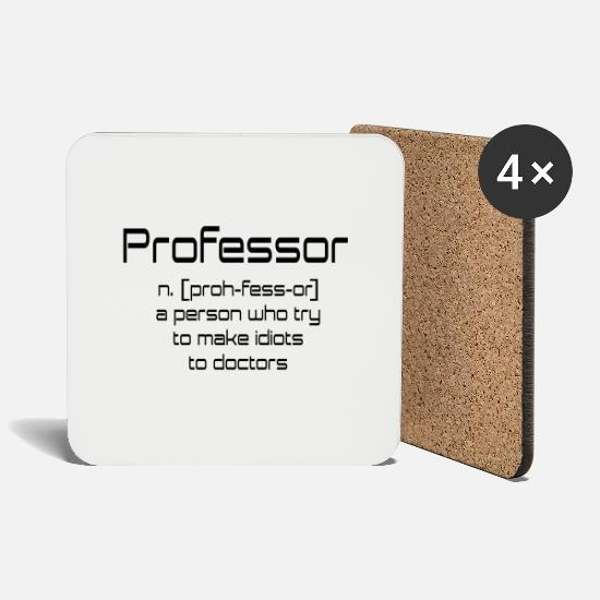 Professor Mugs & Drinkware - professor - Coasters white