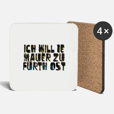 Walls Fell Fuerth wall only text - Coasters